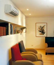 Airconditioning in de woonkamer